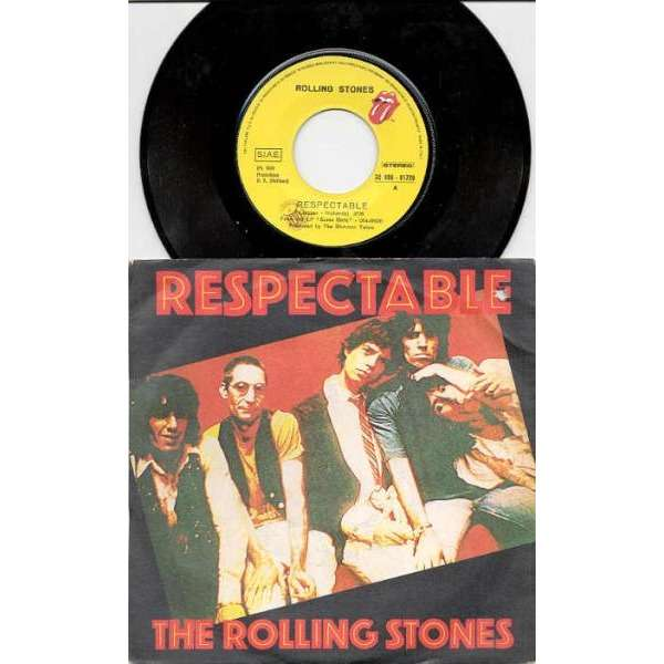 Rolling Stones Respectable (Italian 1978 2-trk 7single full ps)
