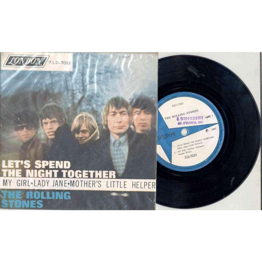 Rolling Stones Let's Spend The Night Together (Brazil 1967 4-trk 7EP unique ps)