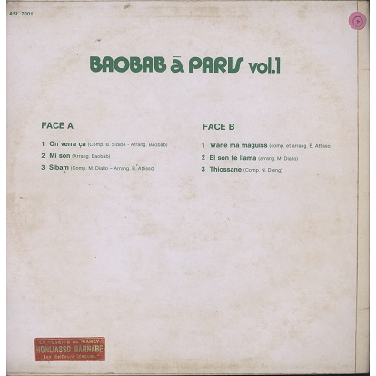Baobab (Orchestra) A Paris vol 1 On verra ça
