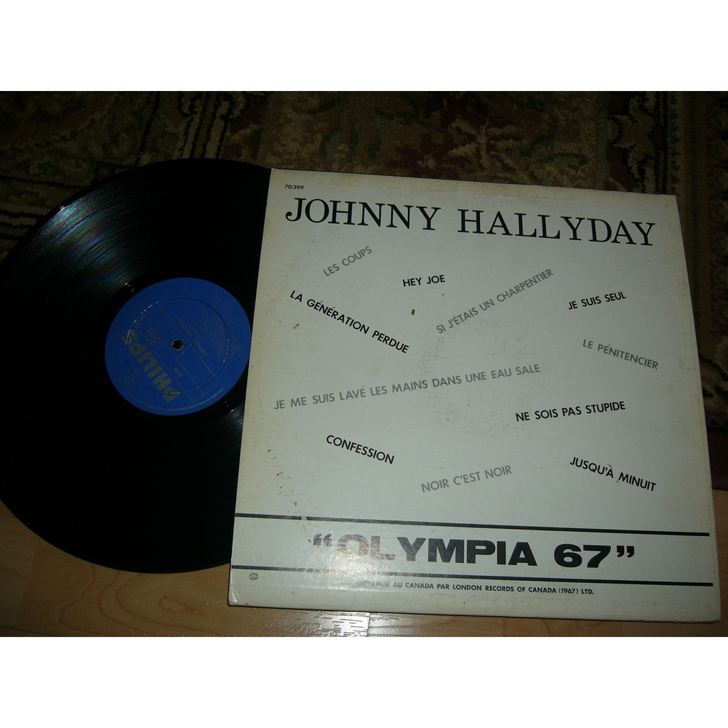 Johnny Hallyday Johnny olimpia 67 leabel bleu rare premier pressage