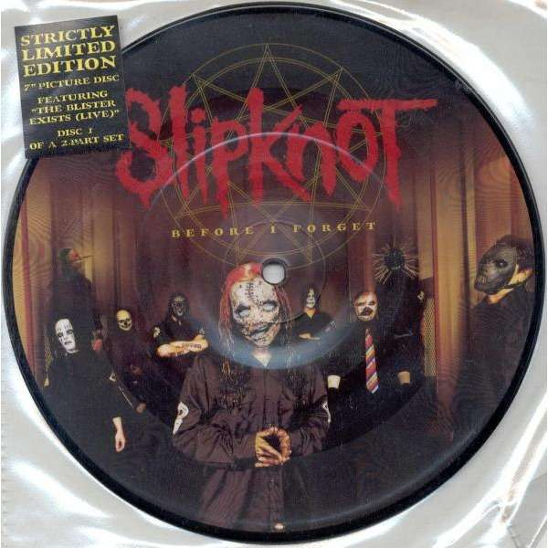 Slipknot Before I Forget (UK 2005 Ltd 2-trk 7single Picture Disc)