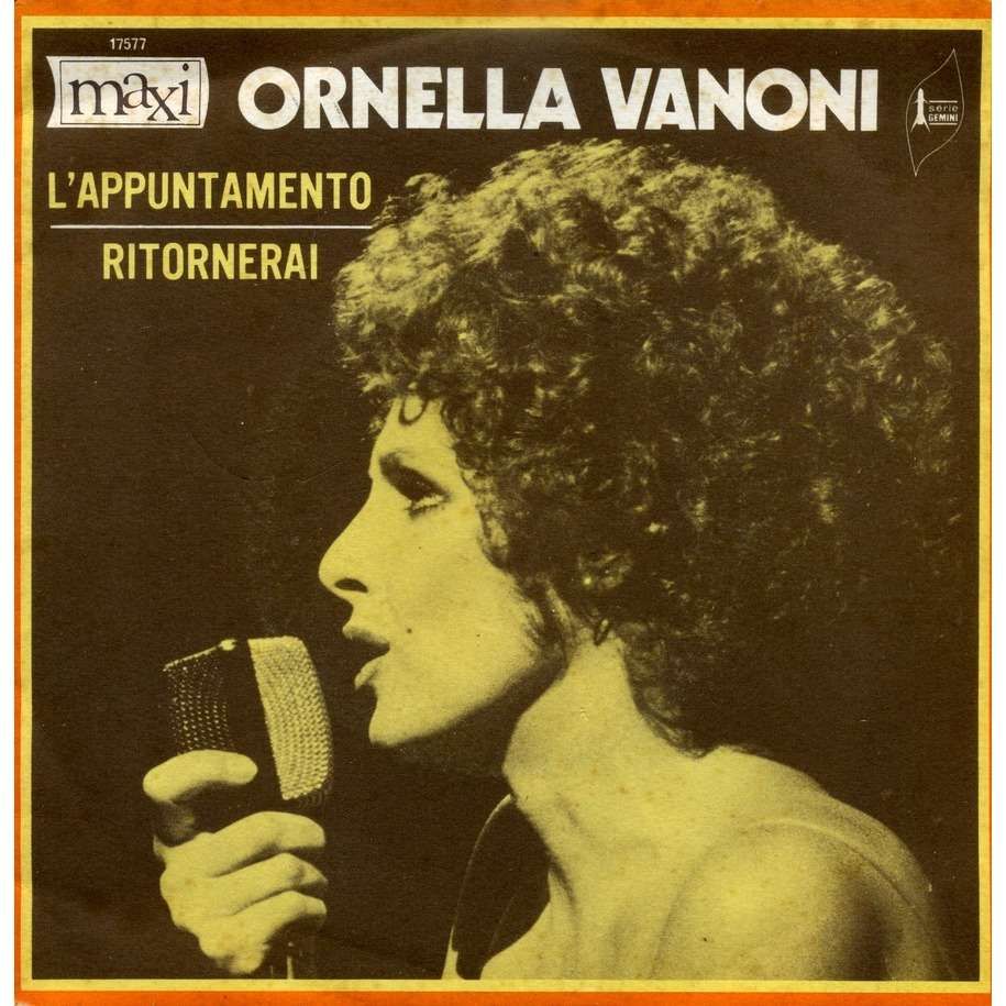 L Appuntamento Ritornerai By Ornella Vanoni Sp With