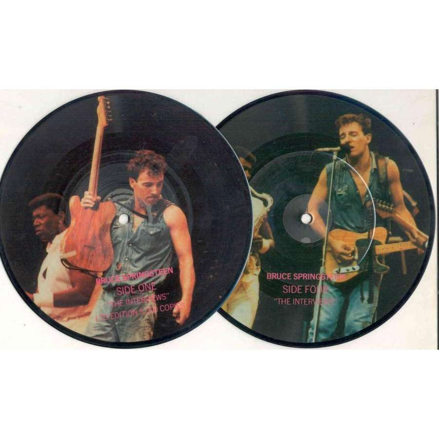 Bruce Springsteen The Interviews (UK Ltd 5000 copies 'Interview' 2x 7singles Picture Disc)