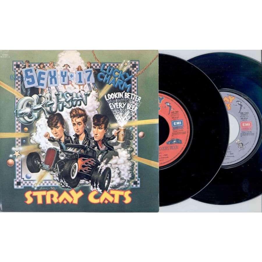 Stray Cats (She's) Sexy & 17 (Canada 1983 Ltd 4-trk double 7single unique gf ps)
