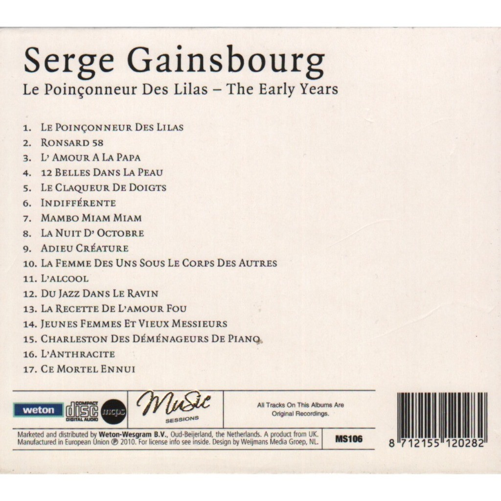Serge Gainsbourg le poinçonneur des lilas - the early years
