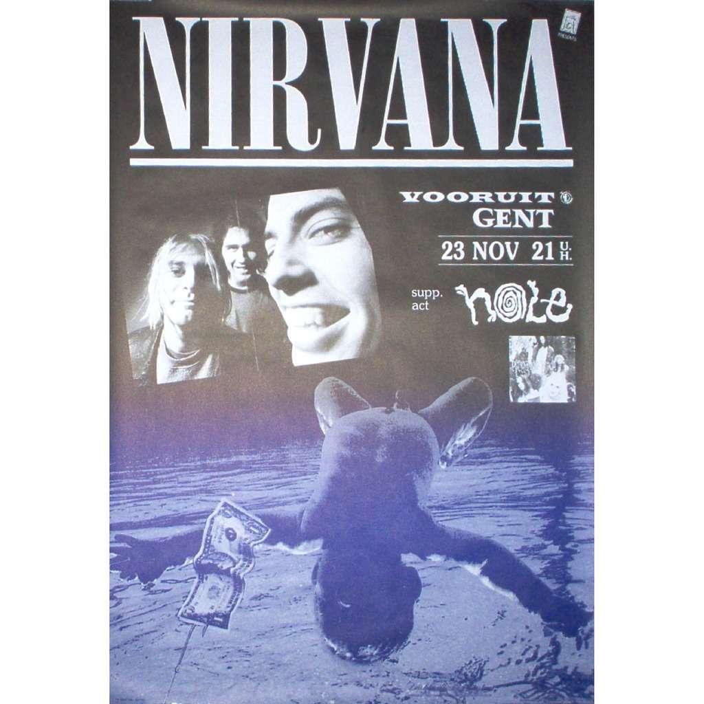 Nirvana Hole Vooruit Gent Belgium 23111991 1991 Original Promo Concert Poster