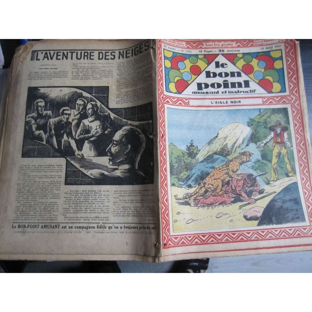 Le Bon Point Amusant Et Instructif Le Bon Point Amusant Et Instructif N° 1272 : L'aigle noir. 1937