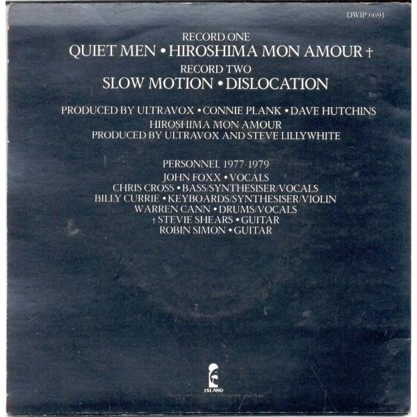 Ultravox Slow Motion (UK 1979 Ltd 4-trk 2x 7single double pack full etched ps)