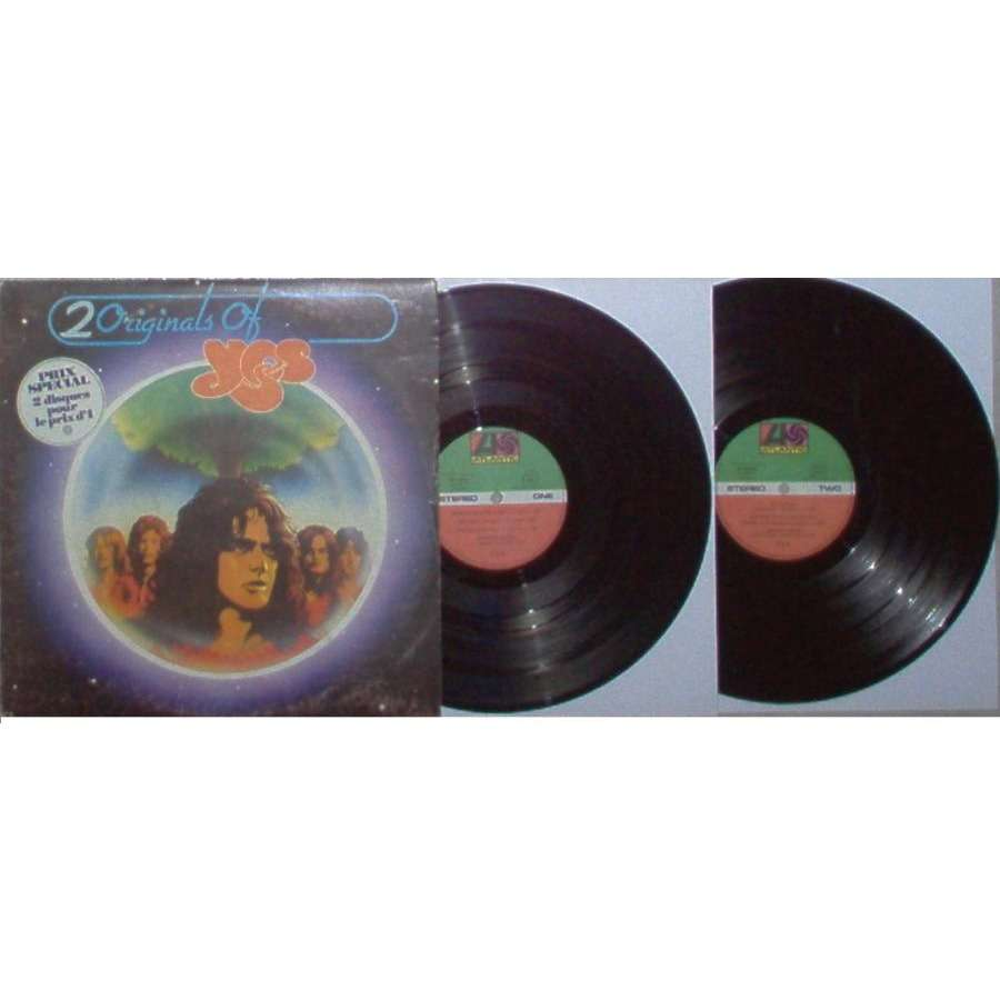yes 2 Originals Of Yes (French 1973 Ltd 2LP set unique stickered gf ps)
