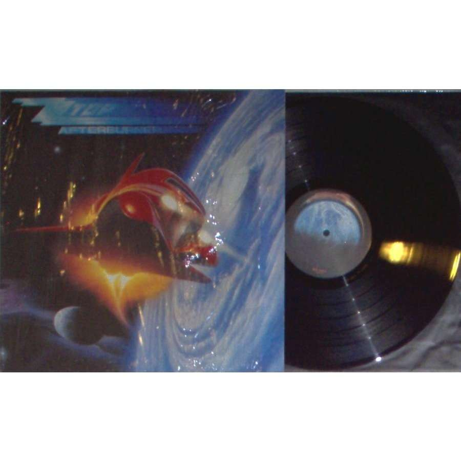 zz top Afterburner (German 1985 10-trk LP full ps & inner & insert)