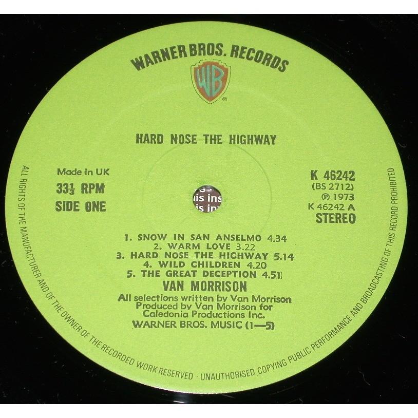 VAN MORRISON HARD NOSE THE HIGHWAY