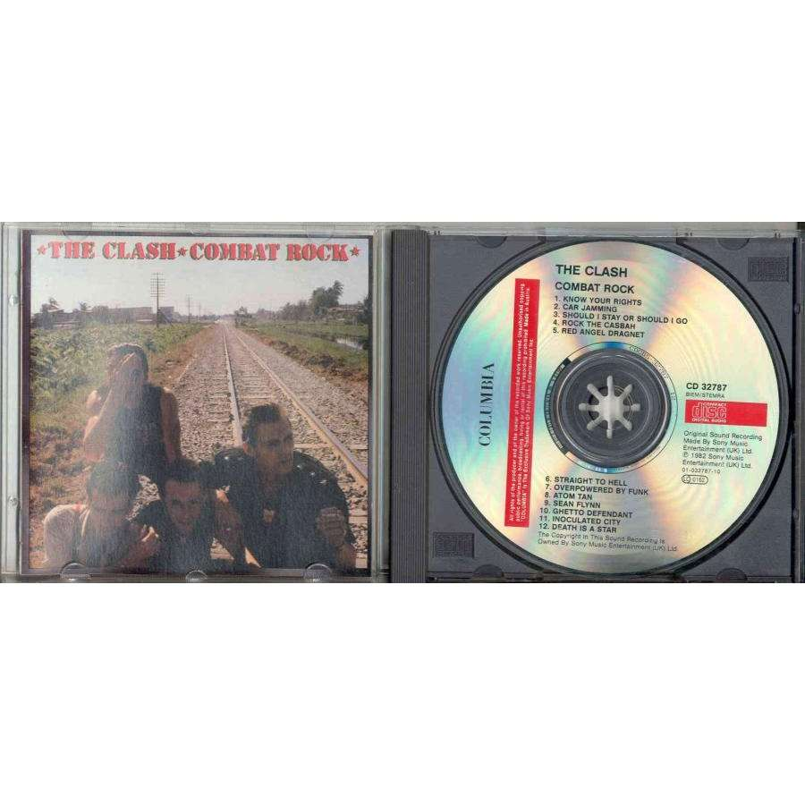The Clash Combat Rock (Austria 1st issue 12-trk CD full ps)