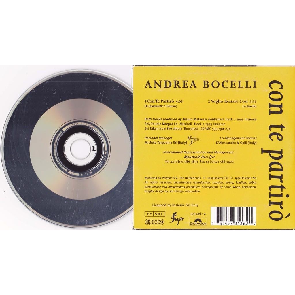 BOCELLI ANDREA CON TE PARTIRO / VOGLIO RESTARE COSI