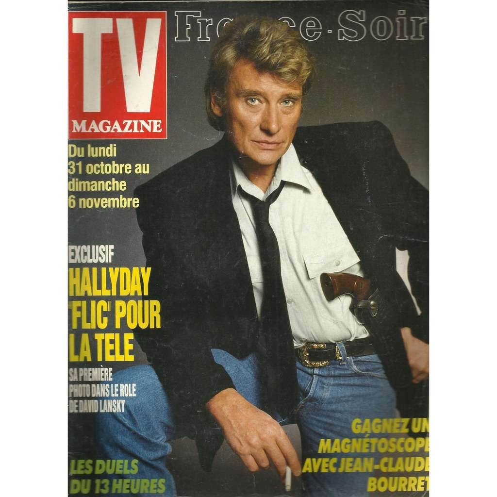 johnny hallyday tv magazine france soir 20/10/1988