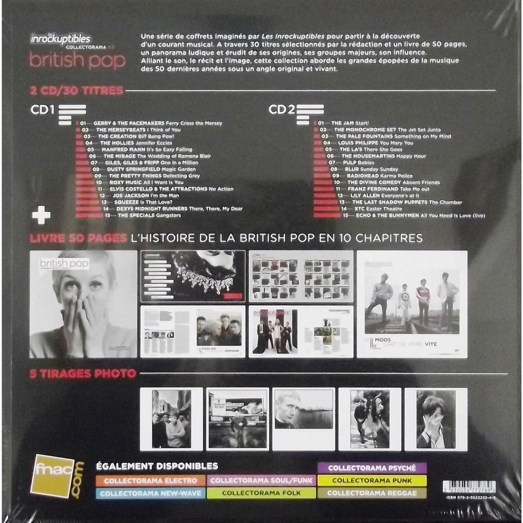 Roxy Music, Blur, Radiohead, The Jam, Pulp...Va... British Pop (2CD + Book + Photos)