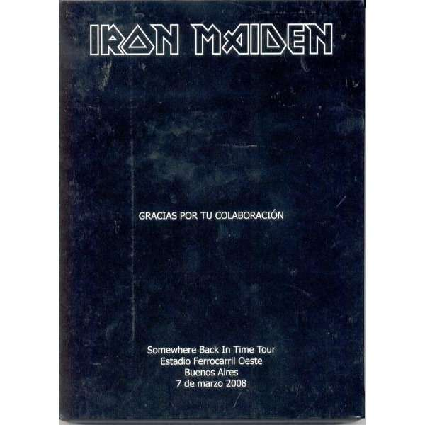 iron maiden SOMEWHERE BACK IN TIME TOUR (ARGENTINA 2008 PROMO 2DVDS AND PUZZLE BOX SET UNIQUE ps)
