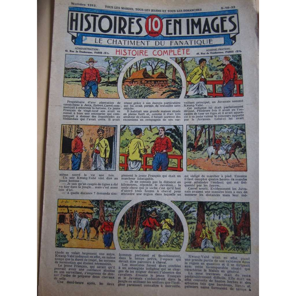 Histoires En 10 Images N° 1313 Histoires En 10 Images N° 1313 : Le Châtiment Du Fanatique. 1933, 4 Pages