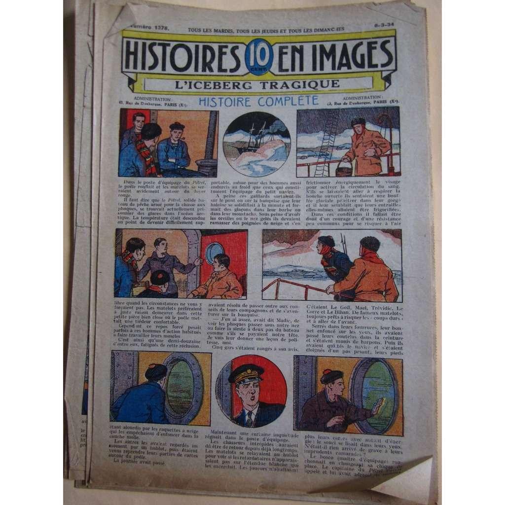 Histoires En 10 Images N° 1378 Histoires En 10 Images N° 1378 : L'iceberg tragique. 1934, 4 Pages