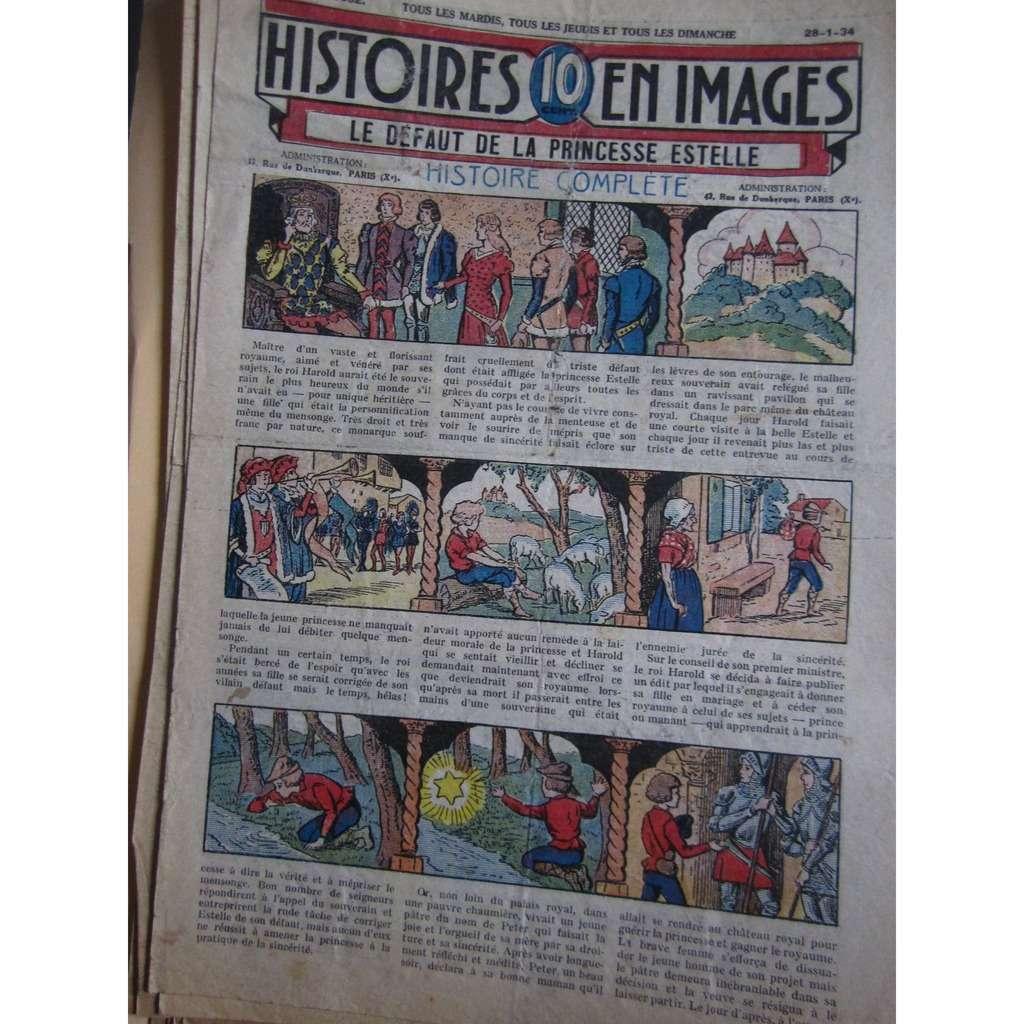 Histoires En 10 Images N° 1362 Histoires En 10 Images N° 1362 : Le défaut de la princesse Estelle, 1934, 4 Pages