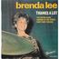 BRENDA LEE - Thanks a lot - 45T (EP 4 titres)