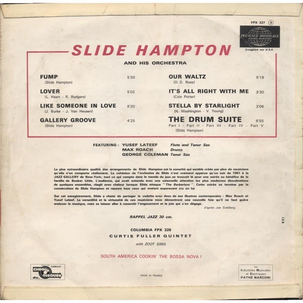 SLIDE HAMPTON ( + Max Roach ) DRUM SUITE parts I, I I, I I I, I V, V (1,2,3,4,5) ORIGINAL France + CD-R