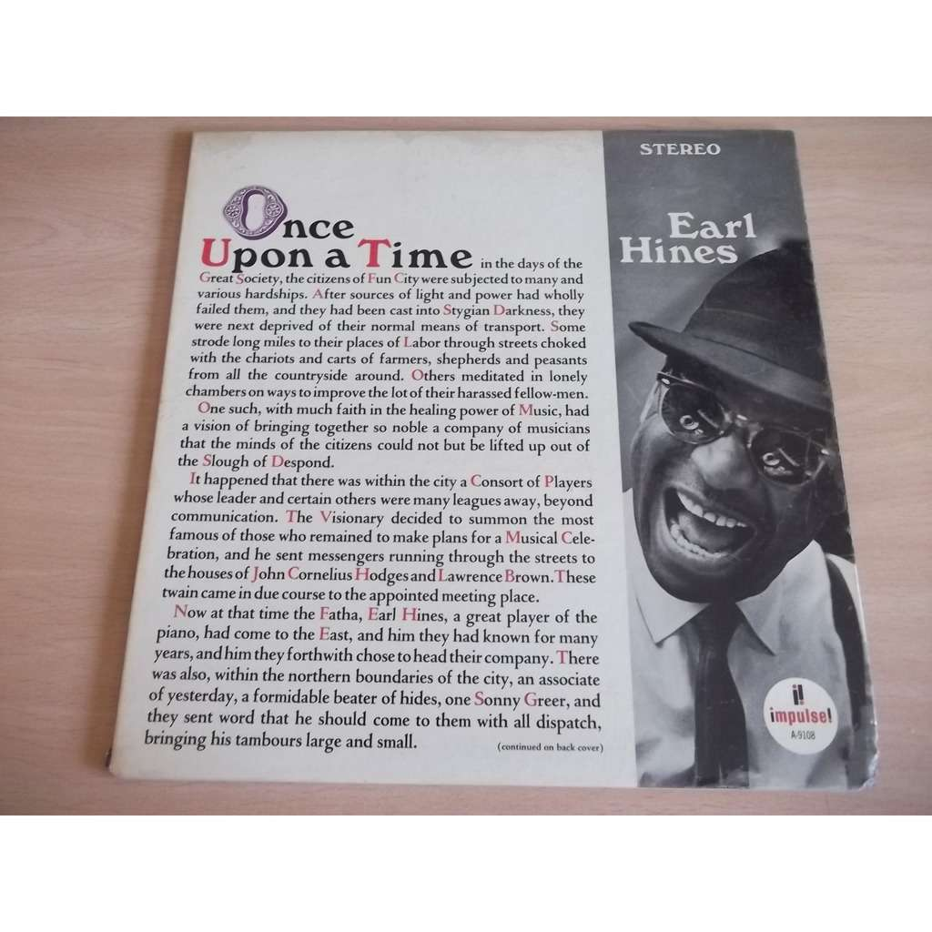 EARL HINES Once Upon A Time
