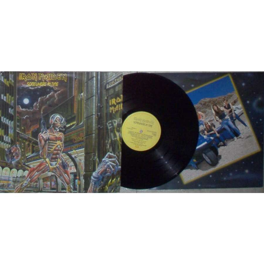 iron maiden SOMEWHERE IN TIME (BRAZIL 1994 original LTD 'SUPER LUXO' 8-TRK LP PS AND INSERT)