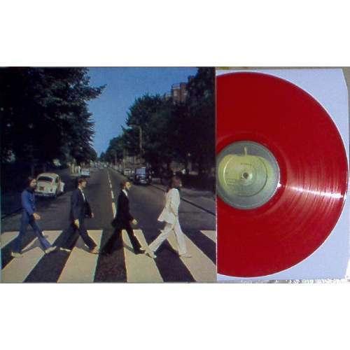 Beatles ABBEY ROAD (AUSTRALIA LTD RE 16-TRK LP RED VINYL ON APPLE LBL FULL PS)