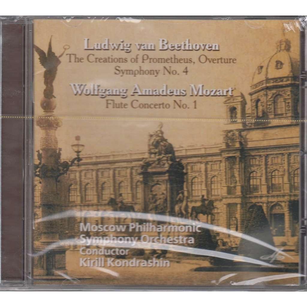 Kirill Kondrashin Beethoven Creations of Prometheus, Symphony 4, Mozart  Flute Concerto 1 Rec 1964/65/67