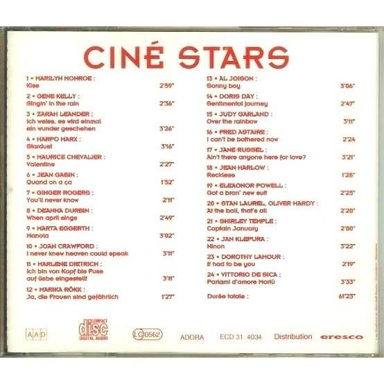 Harpo Marx / Vittorio De Sica / Dorothy Lamour Ciné Star : 24 Songs By 24 actors & actresses