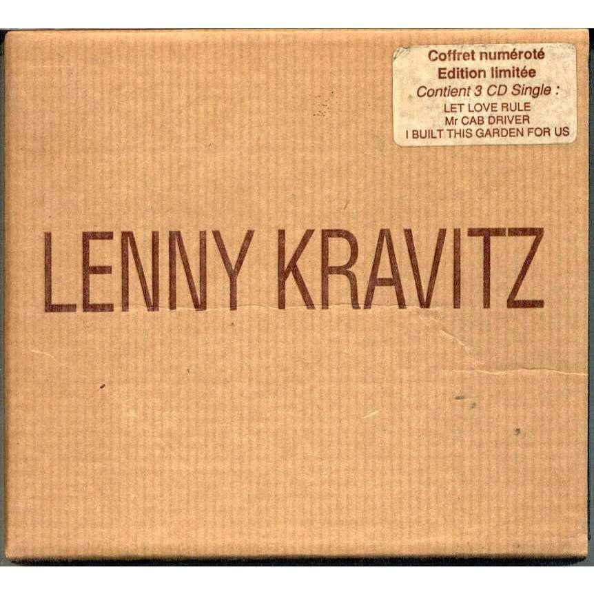Lenny Kravitz Coffret Numerote Edition Limitee (French 1991 Ltd No'd 3CD singles box unique ps)