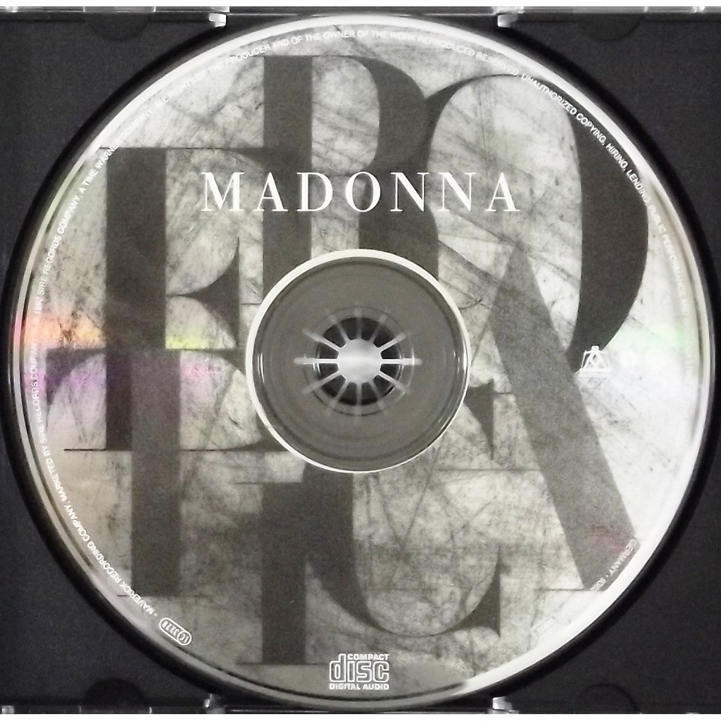 Erotica Cd 14 Tracks By Madonna Cd With Vinyl59 Ref