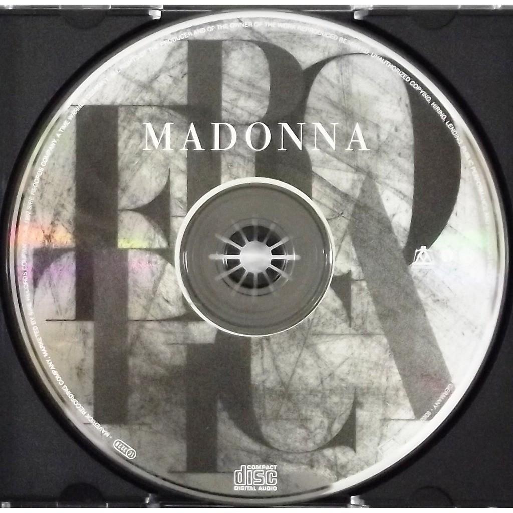Erotica Cd 14 Tracks By Madonna Cd With Vinyl59 Ref