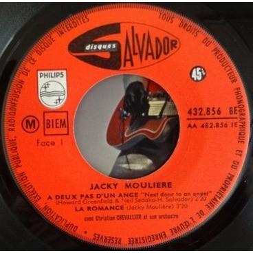 JACKY MOULIERE A DEUX PAS D'UN ANGE