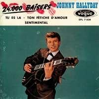 Johnny Hallyday CD 4 titres 24000 baisiers
