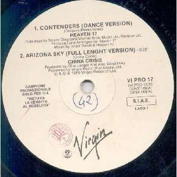 Heaven 17 CONTENDERS (ITALIAN 1986 W/LABEL 12 PROMO SAMPLER)
