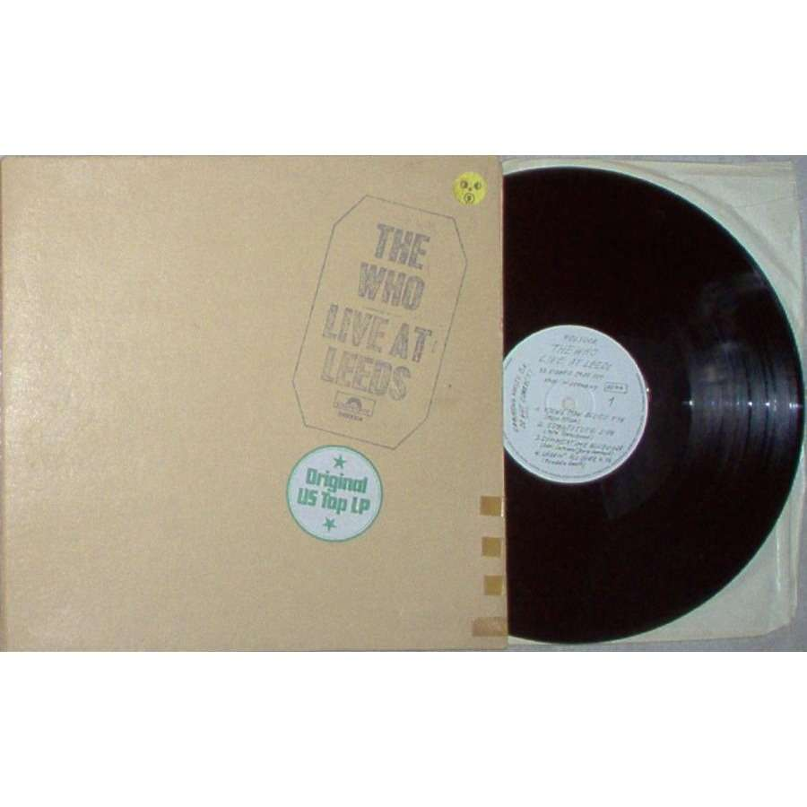 the who LIVE AT LEEDS (GERMAN 1970 ORIGINAL 6-TRK LP STICKERED GF PS-INSERTS MISSING)