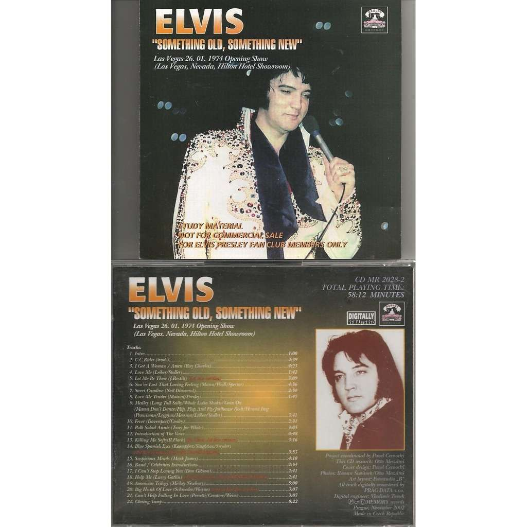 elvis presley something old something new cd-26/1/74 las vegas opening show