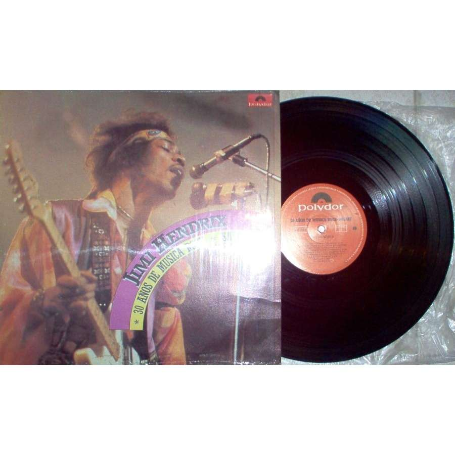 Jimi Hendrix 30 ANOS DE MUSICA ROCK (MEXICO-ONLY 80S 12-TRK LP ABSOLUTELY UNIQUE PS)