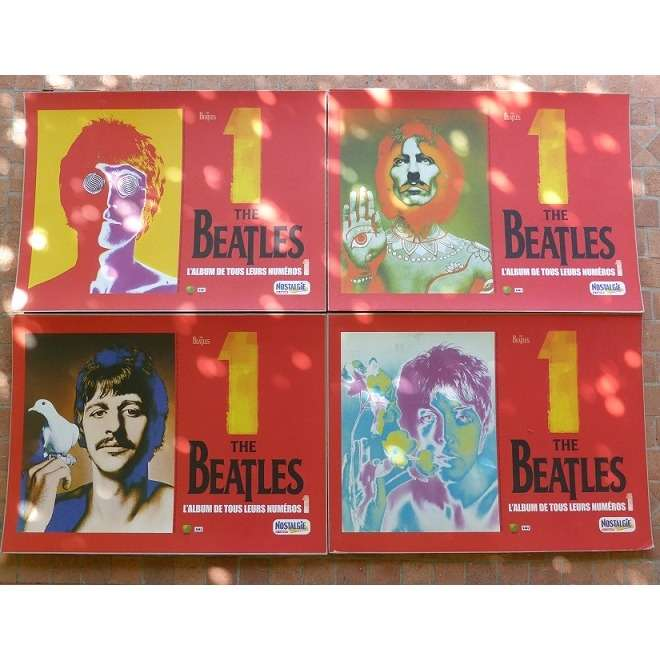 BEATLES( the ) 4 affiches cartonnée ( 2 NM - 2 VG++ / 0,53 cm x 0,39 cm )