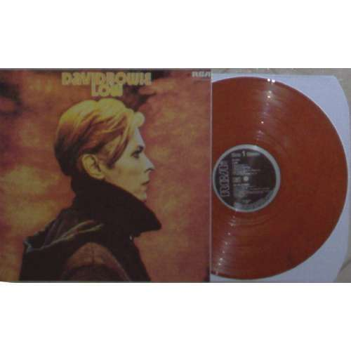 David Bowie LOW (GERMAN 1977 LTD RE 11-TRK LP ORANGE MARBLED WAX FULL PS)
