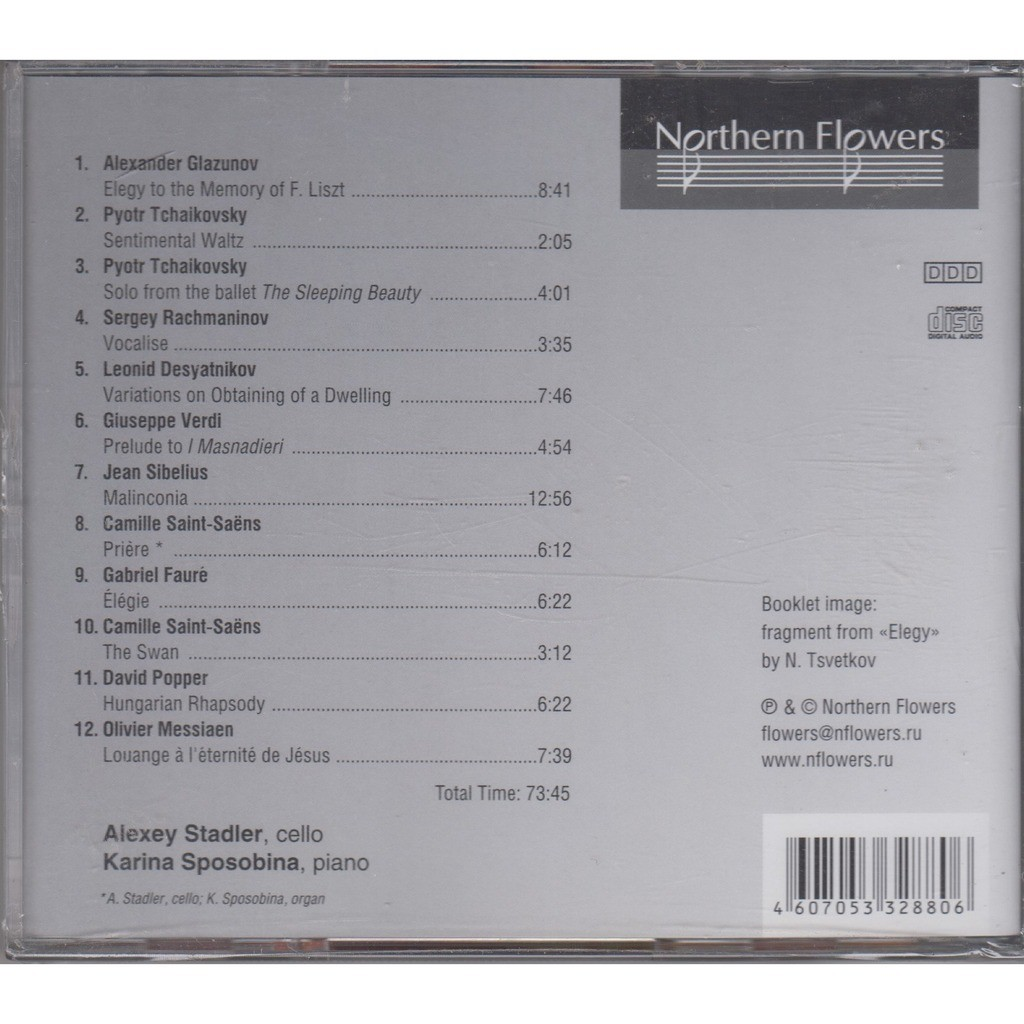 Alexei Stadler Glazunov Tchaikovsky Rachmaninov Desyatnikov Verdi Sibelius Saint-Saens Faure Popper Messiaen