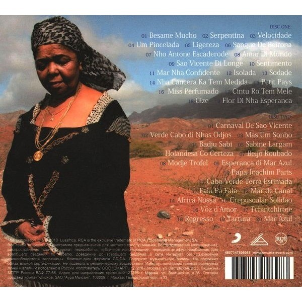 CESARIA EVORA greatest hits, CD X 2 for sale on groovecollector com