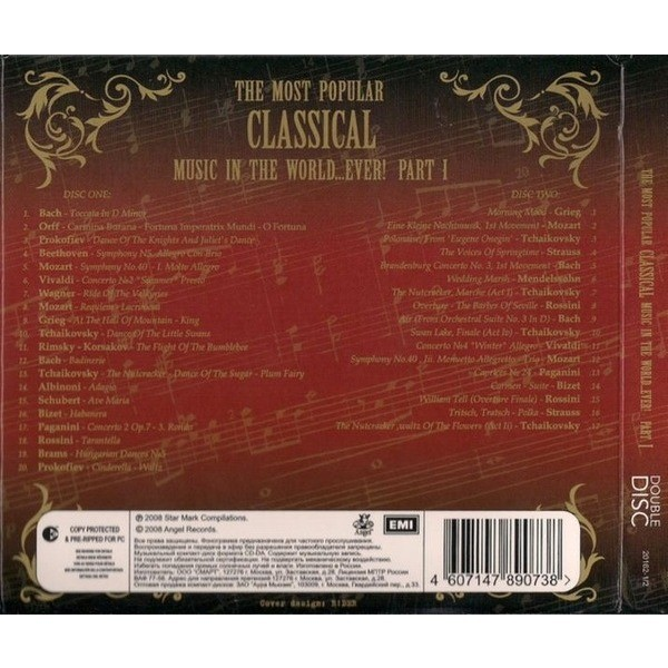 Various The Most Popular Classical Music In The World...Ever! Part I