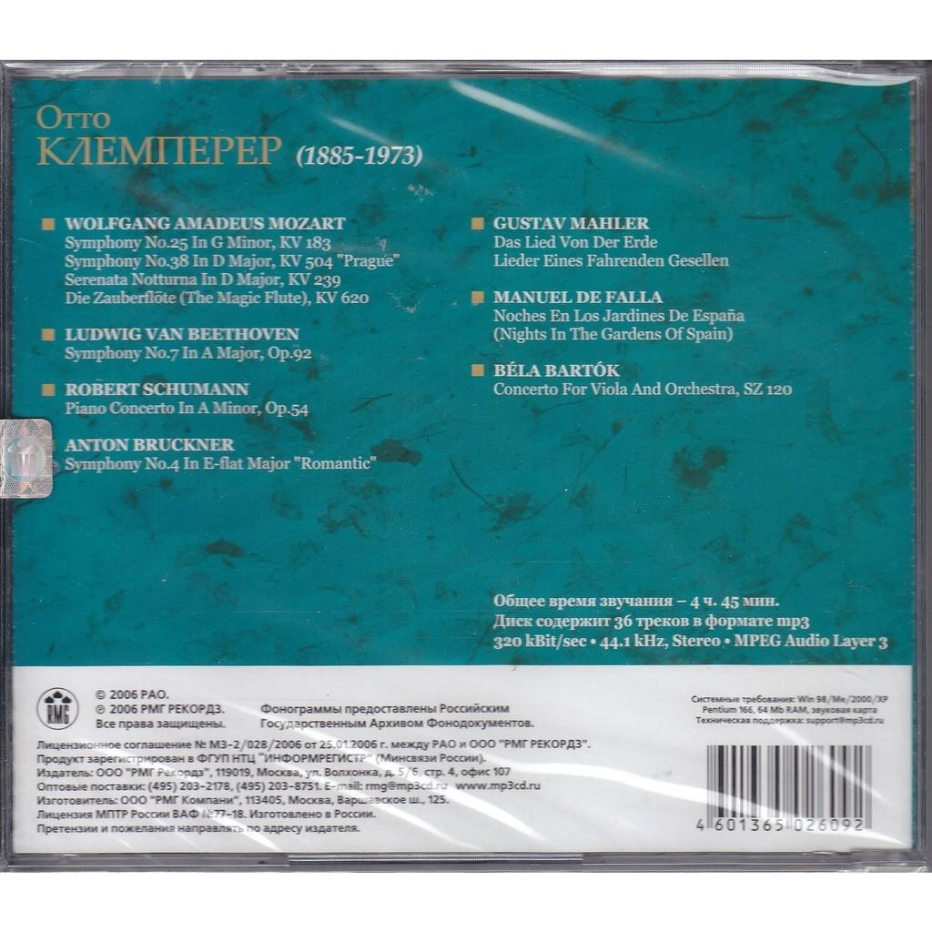 Otto Klemperer Mozart, Beethoven Symphony #7, Schumann, Bruckner, Mahler, de Falla, Bartok MP3 36 racks