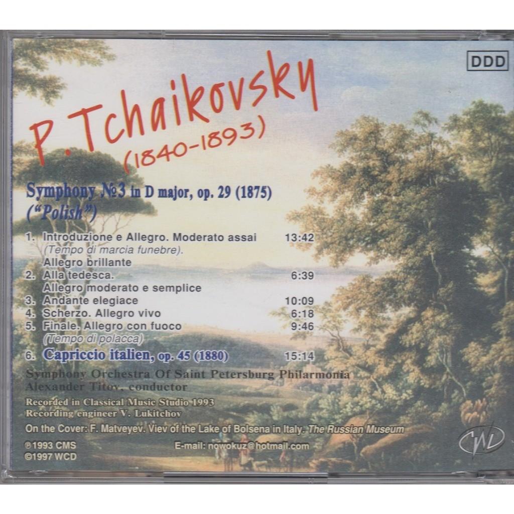 Alexander Titov Tchaikovsky Symphony #3 Polish, Capriccio Italien Rec.1993