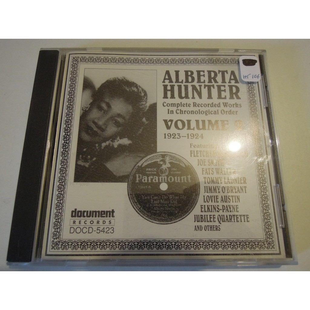 alberta hunter complete recorded works in chronological order vol.1,2 & 3
