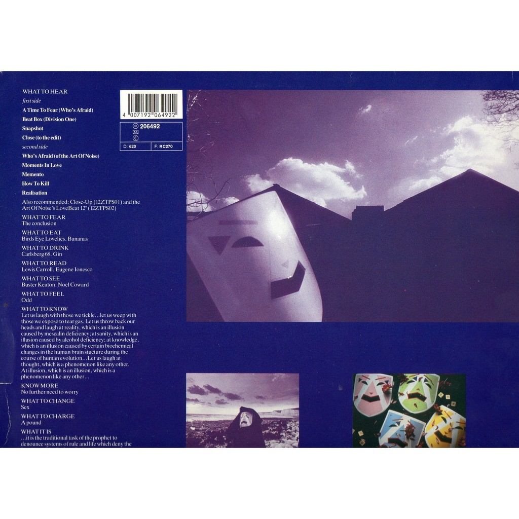 Whos Afraid Of The Art Of Noise By Art Of Noise Lp With