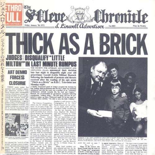 Jethro Tull - Thick As A Brick. ( Mini Lp Papersleeve )
