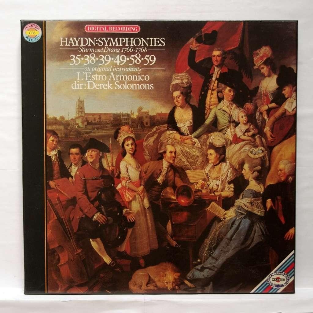 haydn symphonies no 35 38 39 49 58 59 derek solomons